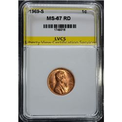 1969-S LINCOLN CENT LVCS SUPERB GEM