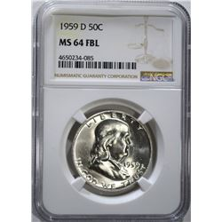 1959-D FRANKLIN HALF DOLLAR NGC
