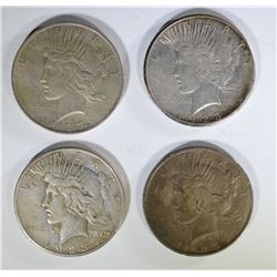2-1923 & 2-1923-S PEACE SILVER DOLLARS