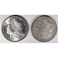 1880-S GEM BU & 1885-S XF/AU MORGAN