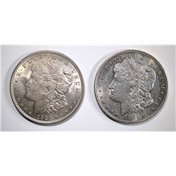 2-1921 MORGAN DOLLARS, CHOICE BU