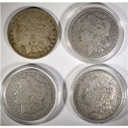 2-1921-D & 2-1921-S MORGAN DOLLARS, CIRC OR BETTER