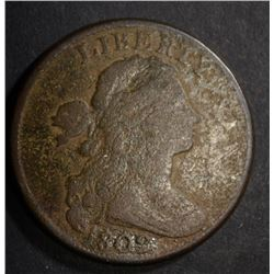 1802 LARGE CENT, VG POROSITY