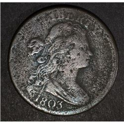 1803 DRAPED LARGE CENT VG/F