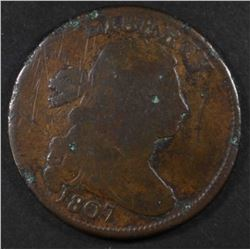 1807 DRAPED BUST COMET VARIETY LARGE CENT, G