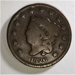 1826 LIBERTY HEAD LARGE CENT VG