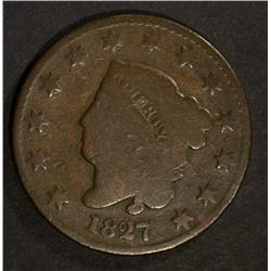 1827 LIBERTY HEAD LARGE CENT GOOD