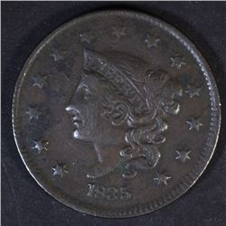 1835 LARGE CENT, VF/XF a little dark