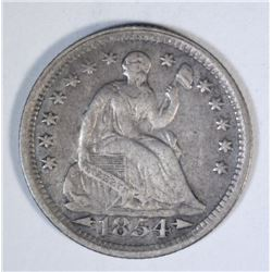 1854 ARROWS SEATED HALF DIME, XF