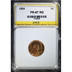 1954 LINCOLN CENT, LVCS SUPERB GEM PROOF RD