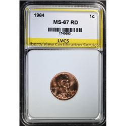 1964 LINCOLN CENT, LVCS SUPERB GEM PROOF RD