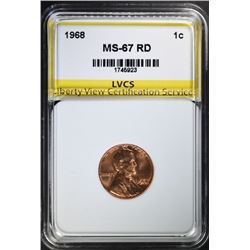 1968 LINCOLN CENT, LVCS SUPERB GEM PROOF RD