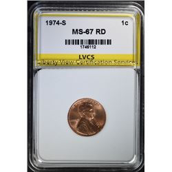 1974-S LINCOLN CENT, LVCS SUPERB GEM PROOF RD