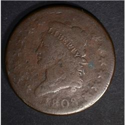 1808 LARGE CENT, GOOD