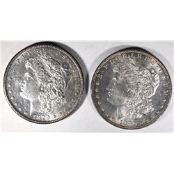 1879-S CHBU & 1880 GEM BU MORGAN