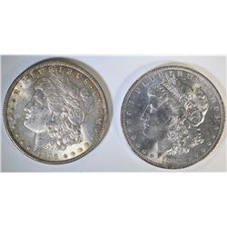 1884-O & 1896 MORGAN DOLLARS CHOICE BU+