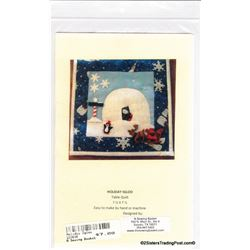"Holiday Igloo' Table Quilt Pattern 7.5"" x 7.5"""
