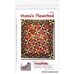 "Mama's Flowerbed' Quilt Pattern 56"" x 64"""