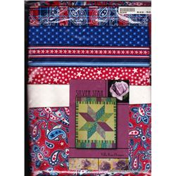 "Silver Star' Quilt Kit  32"" x 42"""