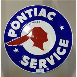 PONTIAC SERVICE TIN SIGN EMBOSSED