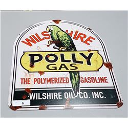 POLLY GAS METAL SIGN