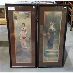 VINTAGE PAIR FRAMED PRINTS