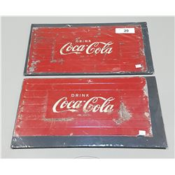2 ORIGINAL DRINK COCA COLA METAL SIGNS