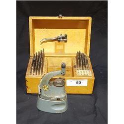 VINTAGE CASED BOLEY PUNCH/STAKING WATCH MAKER'S TOOL SET