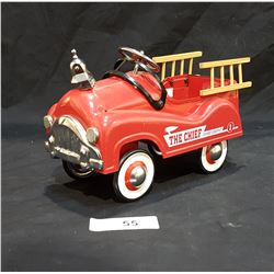 MINIATURE METAL FIRE DEPARTMENT PEDAL CAR