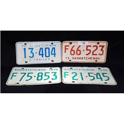 4 VINTAGE SASKATCHEWAN LICENSE PLATE