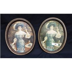 2 PEPSI COLA METAL SERVING TRAYS