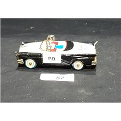 1950'S TIN POLICE CAR TOY