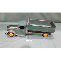 1940'S PRESSED STEEL  TOY DUMPTRUCK