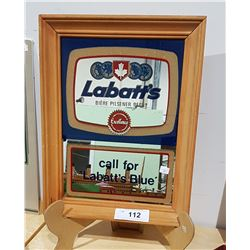 LABATTS BLUE BEER FRAMED MIRROR SIGN