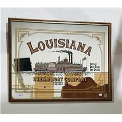 LUISIANA STEAMBOAT COMPANY FRAMED MIRROR