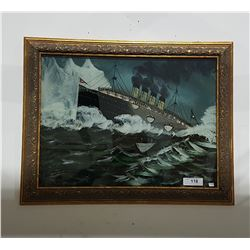 REVERSE PAINTED TITANIC PICTURE