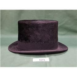 ANTIQUE BEAVER SKIN TOP HAT