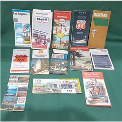 14 VINTAGE GAS STATION ROAD MAPS