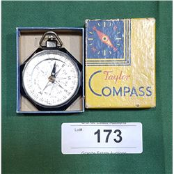 VINTAGE TAYLOR COMPASS IN BOX