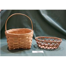 2 HAND CRAFTED NATIVE BASKETS