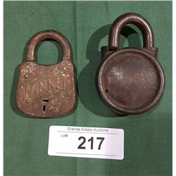 2 ANTIQUE PADLOCKS