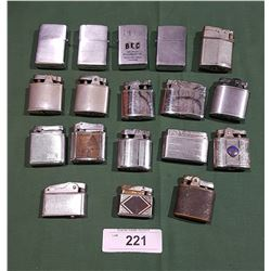 18 VINTAGE LIGHTERS