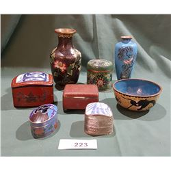 COLLECTION OF MISC CLOISONNE ITEMS