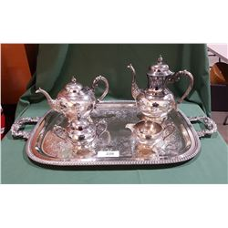 5 PC SILVERPLATE TEA SERVICE