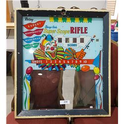 VINTAGE PINBALL MACHINE GLASS