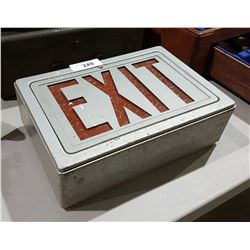 VINTAGE LIGHT UP EXIT SIGN