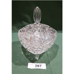 CUT GLASS LIDDED CANDY DISH