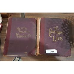 2 ANTIQUE 1800'S THE PATHWAY OF LIFE BOOKS