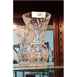 BRILLIANT CUT PINWHEEL CRYSTAL VASE