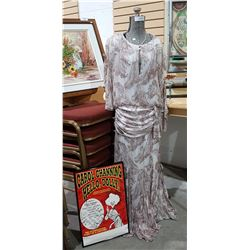 CAROL CHANNING'S DRESS SHE WORE IN HELLO DOLLY & SIGNED POSTER